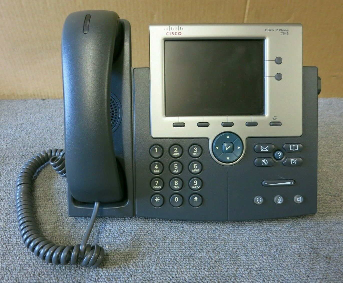 Cisco CP-7945G Unified VoIP IP Business Display Telephone